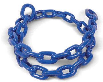 "COATED ANCHOR LEAD CHAIN-Royal Blue 1/4"" x 4'"