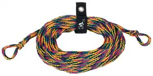 AIRHEAD TOW ROPE FOR INFLATABLES - 2 RIDER Tube Tow Rope, 60'