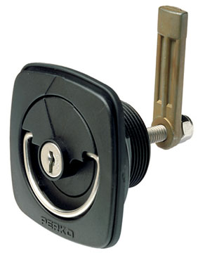 "FLUSH LOCK FOR CARPETED SURFACES-Straight Cam Adj. 1-1/16"" to 2-9/16"", Display Pkg"