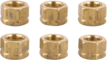 "SEASTAR SOLUTIONS HYDRAULIC FITTING-Tube Nut, 3/8"", Pkg of 6"