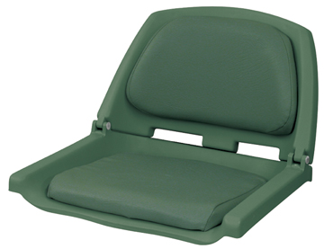 DELUXE FOLD DOWN BOAT SEAT-Green