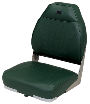 DELUXE MID BACK FOLD-DOWN SEAT-Green Vinyl