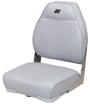 DELUXE MID BACK FOLD-DOWN SEAT-Gray Vinyl