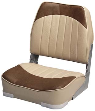 PROMOTIONAL LOW-BACK FOLD-DOWN SEATS-Sand/Brown Vinyl