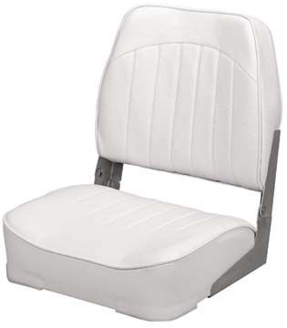 PROMOTIONAL LOW-BACK FOLD-DOWN SEATS-White Vinyl