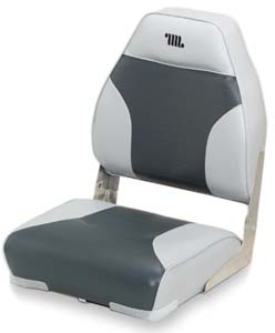 DELUXE MID BACK FOLD-DOWN SEAT-Gray/Charcoal Vinyl
